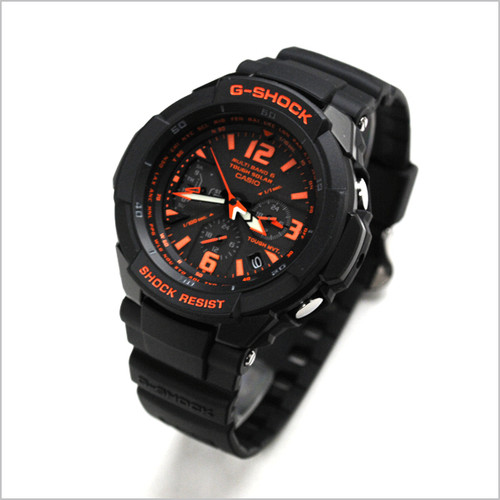 save off 7887d 38bb4 Casio G-Shock Aviator Gravity Defier Black Radio Controlled Watch  GW-3000B-1AER