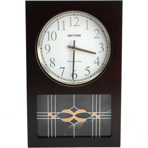 Rhythm Wood Pendulum Wall Clock Quartz Westminster Chime