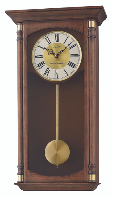 Seiko Wooden Effect Swinging Bird Pendulum Wall Clock Qxc237b