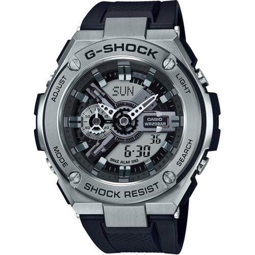 Casio G Shock G Steel Black Resin Strap Watch Gst 410 1aer