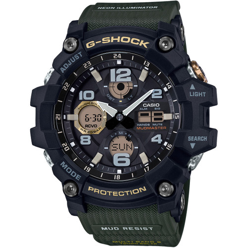 91604bba161 G-Shock Mudmaster Tough Solar Radio-Controlled Watch GWG-100-1A3ER