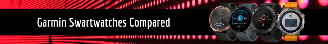 Garmin Smartwatches Compared
