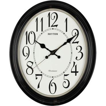 Rhythm Wood Effect West Strike Auto Sweep Wall Clock