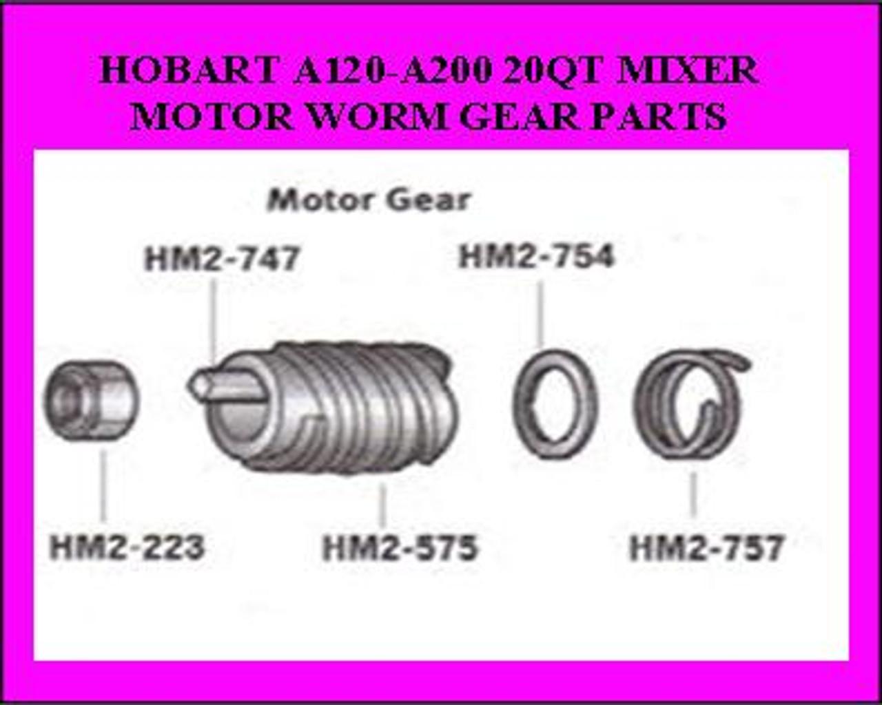 HM2-223 Hobart 20QT Worm Gear Lock Nut       NS-032-23