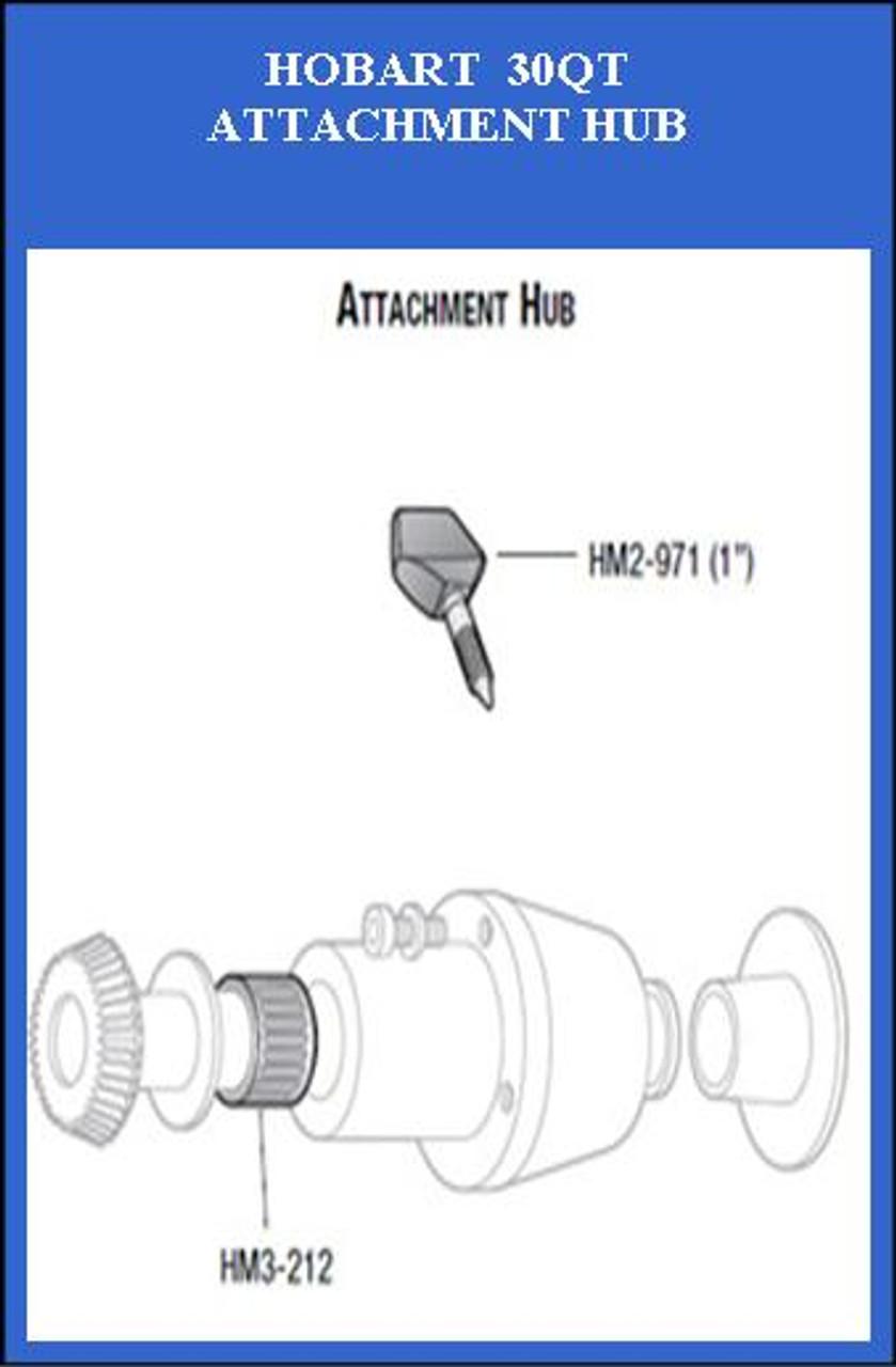 HM2-971-3  Hobart 30Qt Attachment Hub Thumb Screw