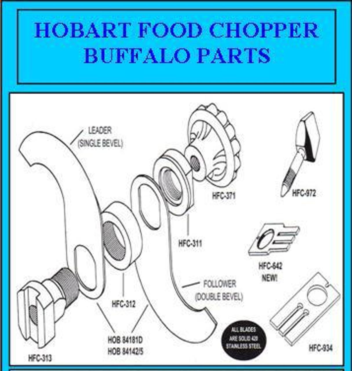 Hobart Buffalo Chopper Knife Fluted  Knob  77371