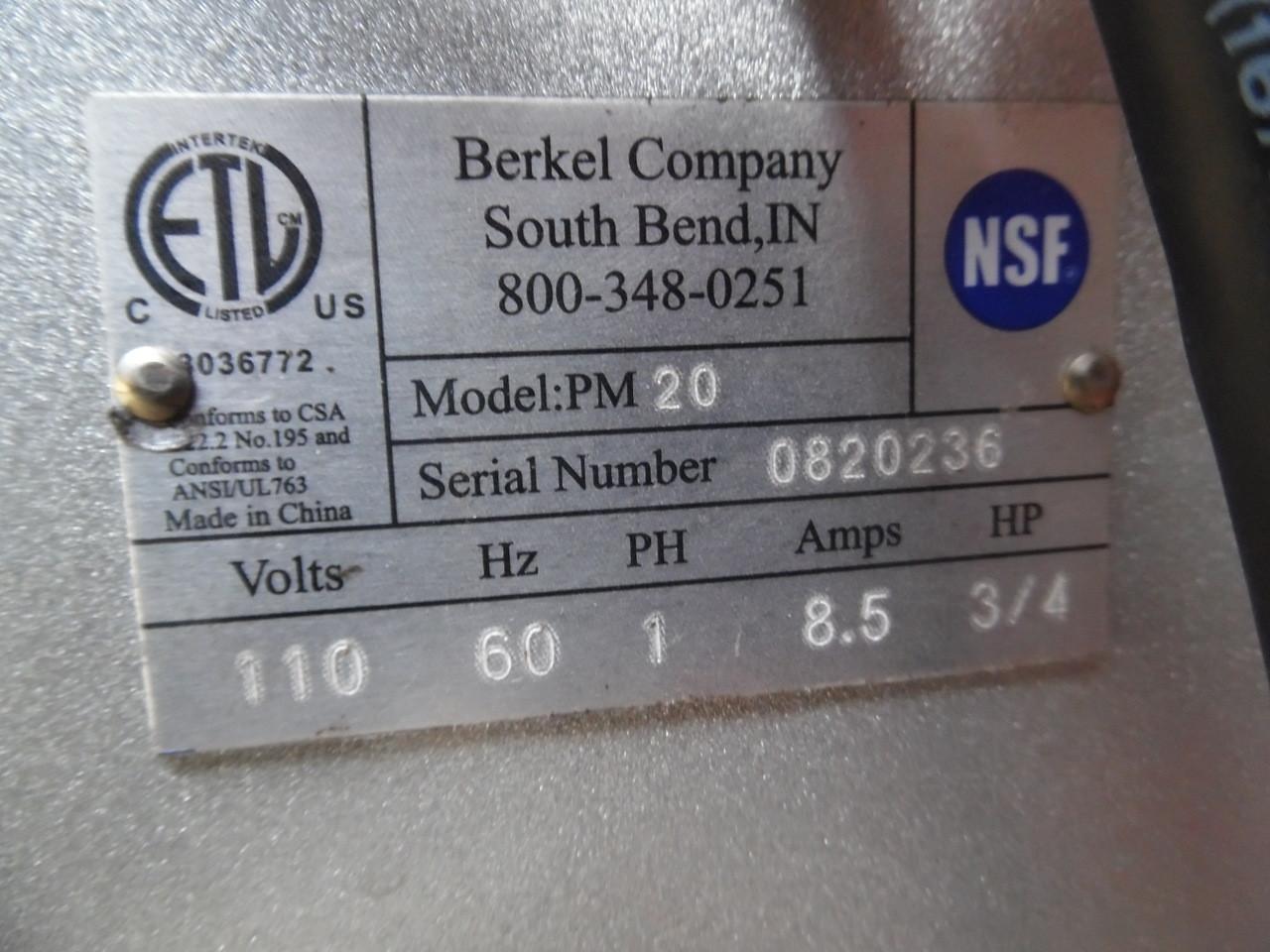 Berkel 20 QT Dough Bakery New Mixer with Attachments PM20
