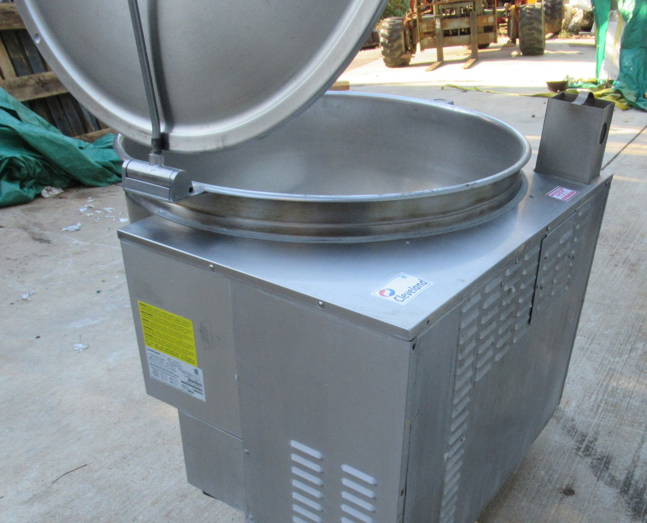 Cleveland KGL-100 Natural-LP Gas Jacketed Stationary Steam Kettle