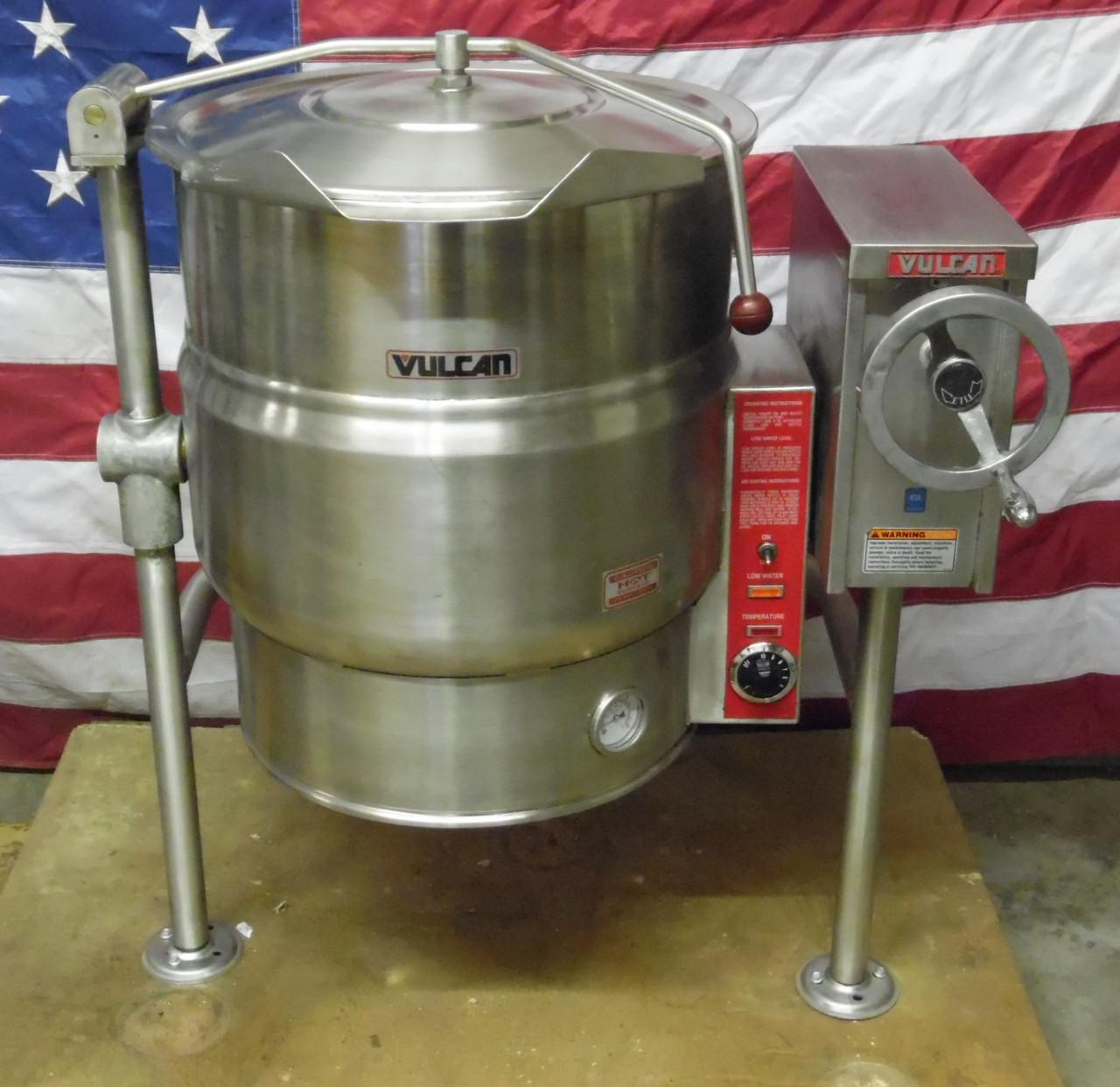 Vulcan VELT-20 208-240V 1-3 Phase Electric Tilting Steam Jacketed Kettle