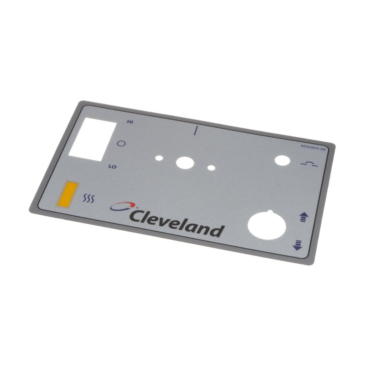 Cleveland Operating Label Overlay CLEKE95604-3