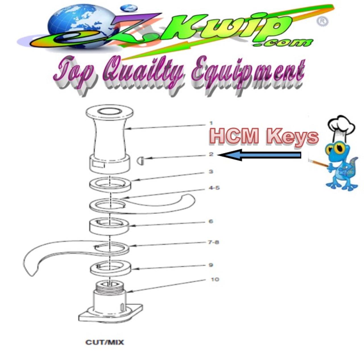 Blade Keys For Hobart HCM300 or HCM450 Cutter/Mixer Part # KW-004-01