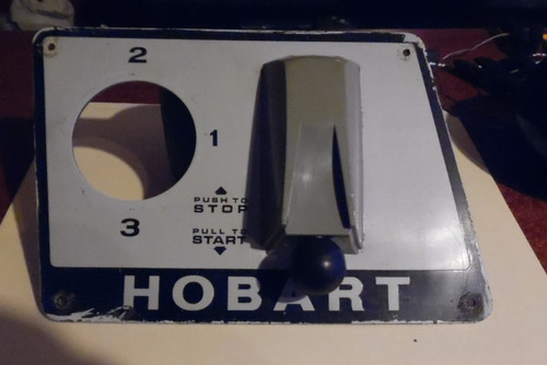 Hobart D300 On-Off Switch Plate Push Pull Style Used Single Phase