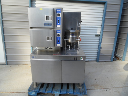 Cleveland Natural Gas Cabinet Convection Steamer Kettle Combination