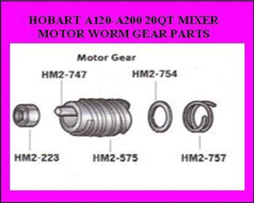 HM2-575 Hobart 20QT Worm Gear  291221