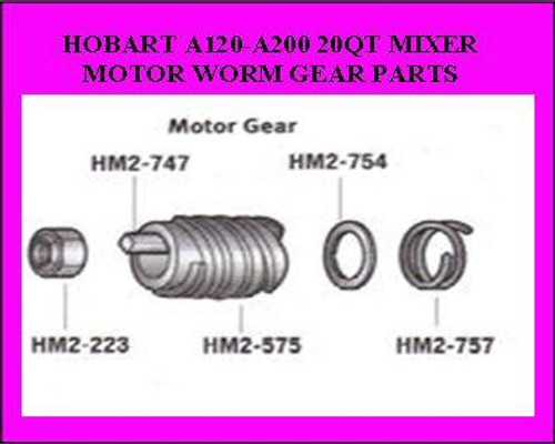 Hobart 20QT Worm Gear Tension Spring 012757 HM2-757