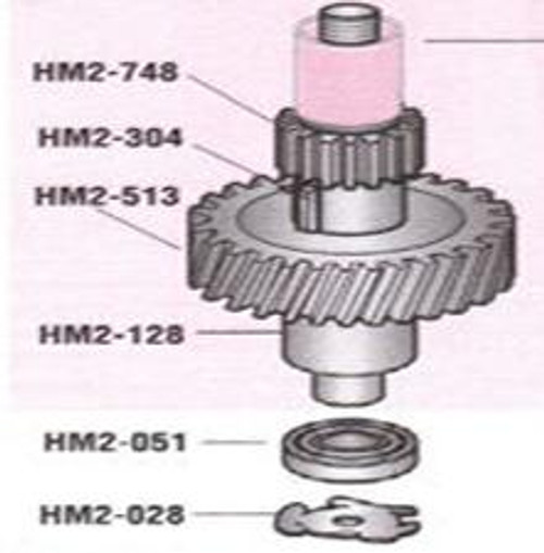 HM2-513 Hobart 20Qt Motor Shaft Worm Wheel Gear   124751-3
