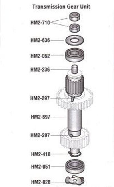 HM2-236 Hobart 20Qt  Intermediate  Shaft with Gear   291236