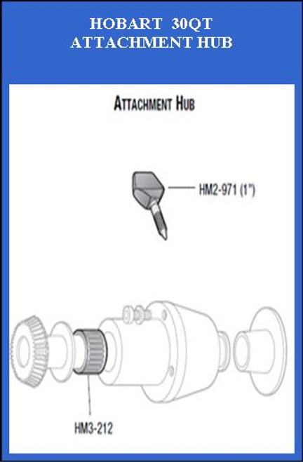 HM2-971-3  Hobart 30Qt Attachment Hub Thumb Screw