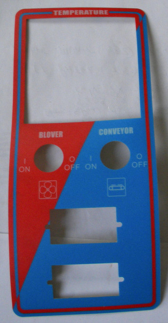 Middleby PS536 Red/BL Control Label 45333