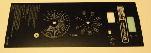 Lincoln Tall Black Dial Dig Control Label 370131