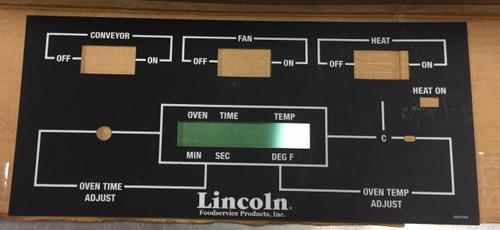 Lincoln Black Face 3 SQ Tog Control Label 369907