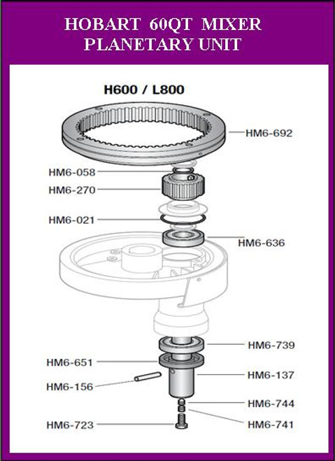 Hobart H600 L800 M802  Agitator Retaining Ring RR-5-8 HM6-058