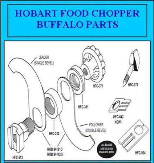 Hobart Buffalo Chopper Knife Knob Insert    00-078398