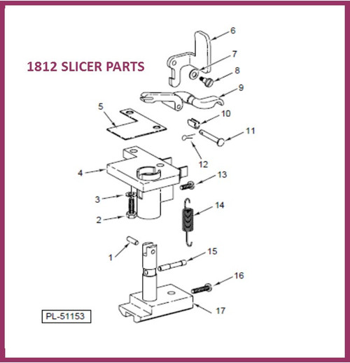 Hobart 1812 Slicer Actuating Lever 437785