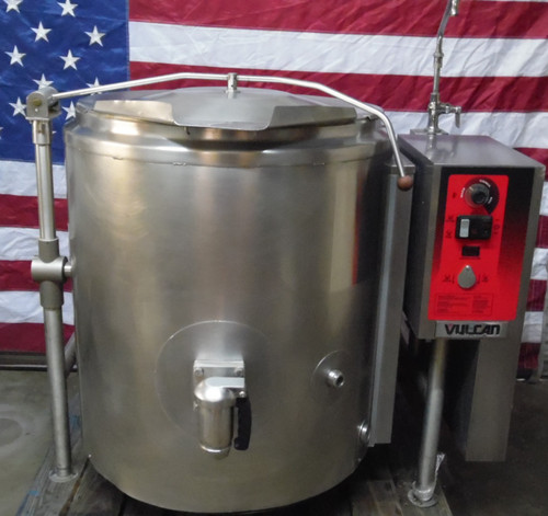 Vulcan K60GLT 60 Gallon Natural Gas Tilting 2/3 Steam Jacketed Kettle