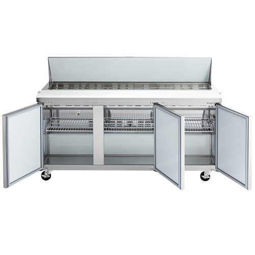 Avantco Plus Refrigerated 71 Inch Sandwich Prep Table