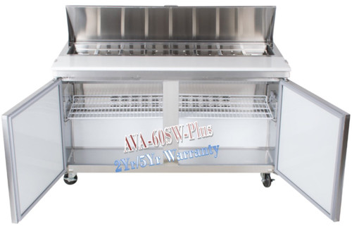 Avantco Plus Refrigerated 60 Inch Sandwich Prep Table