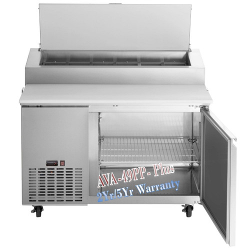 Avantco Plus Refrigerated 49 Inch Pizza Prep Table
