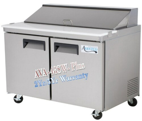 Avantco Plus Refrigerated 48 Inch Sandwich Prep Table