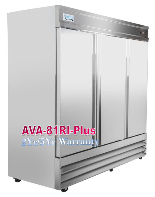 Avantco Plus Commercial Refrigerator 81 Inch Reach In