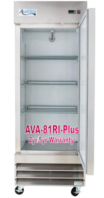 Avantco Plus Commercial Freezer 29 Inch Reach In
