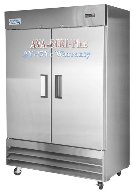 Avantco Plus Commercial Freezer 54 Inch Reach In