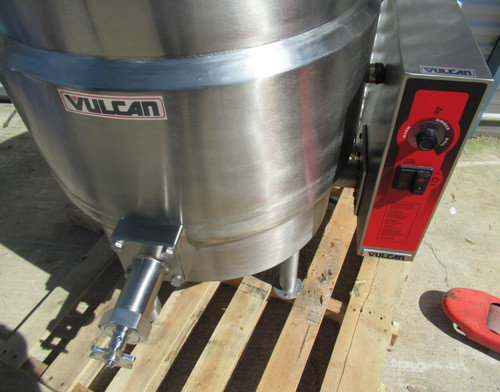 Vulcan K40EL 40 Gal Stationary Steam Jacketed Electric Kettle 208V 3/1 Phase