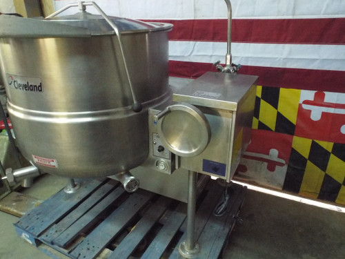 60 Gal Cleveland Tilting KGL-60T Natural Gas Steam Kettle
