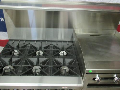 """Southbend 4601DD-2RR 60"""" 6 Burner Gas Range w/ Griddle/Broiler 2 Std Ovens"""