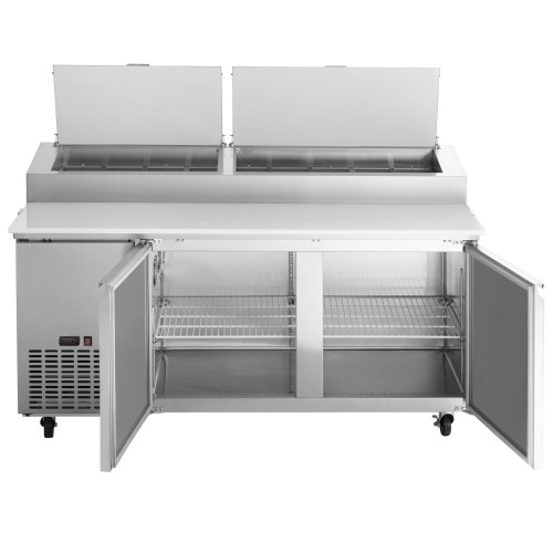 Avantco Plus Refrigerated 93 Inch Pizza Prep Table
