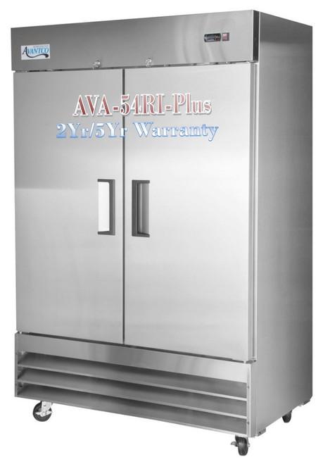Avantco Plus Commercial Refrigerator 54 Inch Reach In