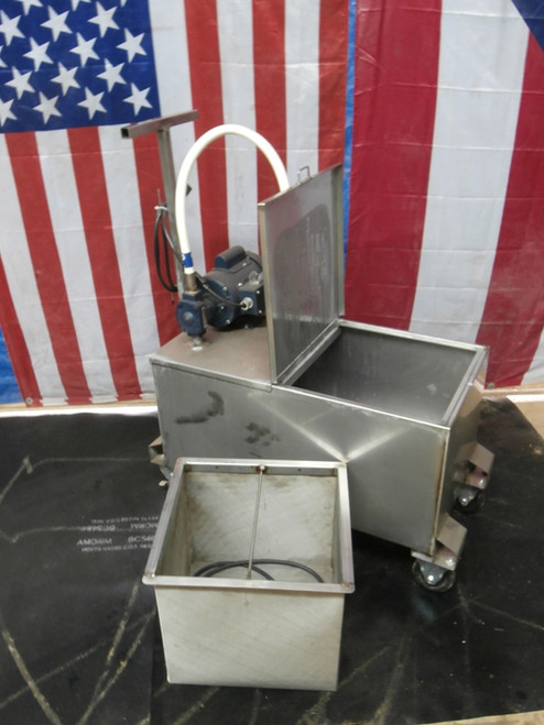 Fryer Oil Grease Caddy Cart and Pump