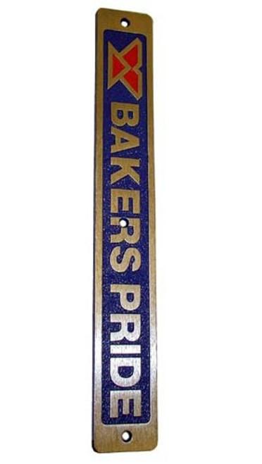 Bakers Pride Aluminum  Nameplate U1043X    26-2536