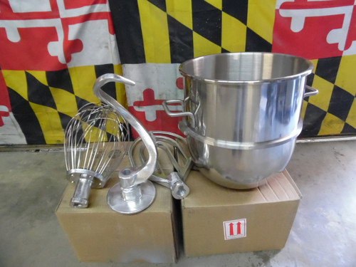 Hobart 40 Qt D340 Mixer Bowl and Attachments Kit