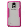 Samsung Galaxy Note 4 Clear Back Bumper Pink