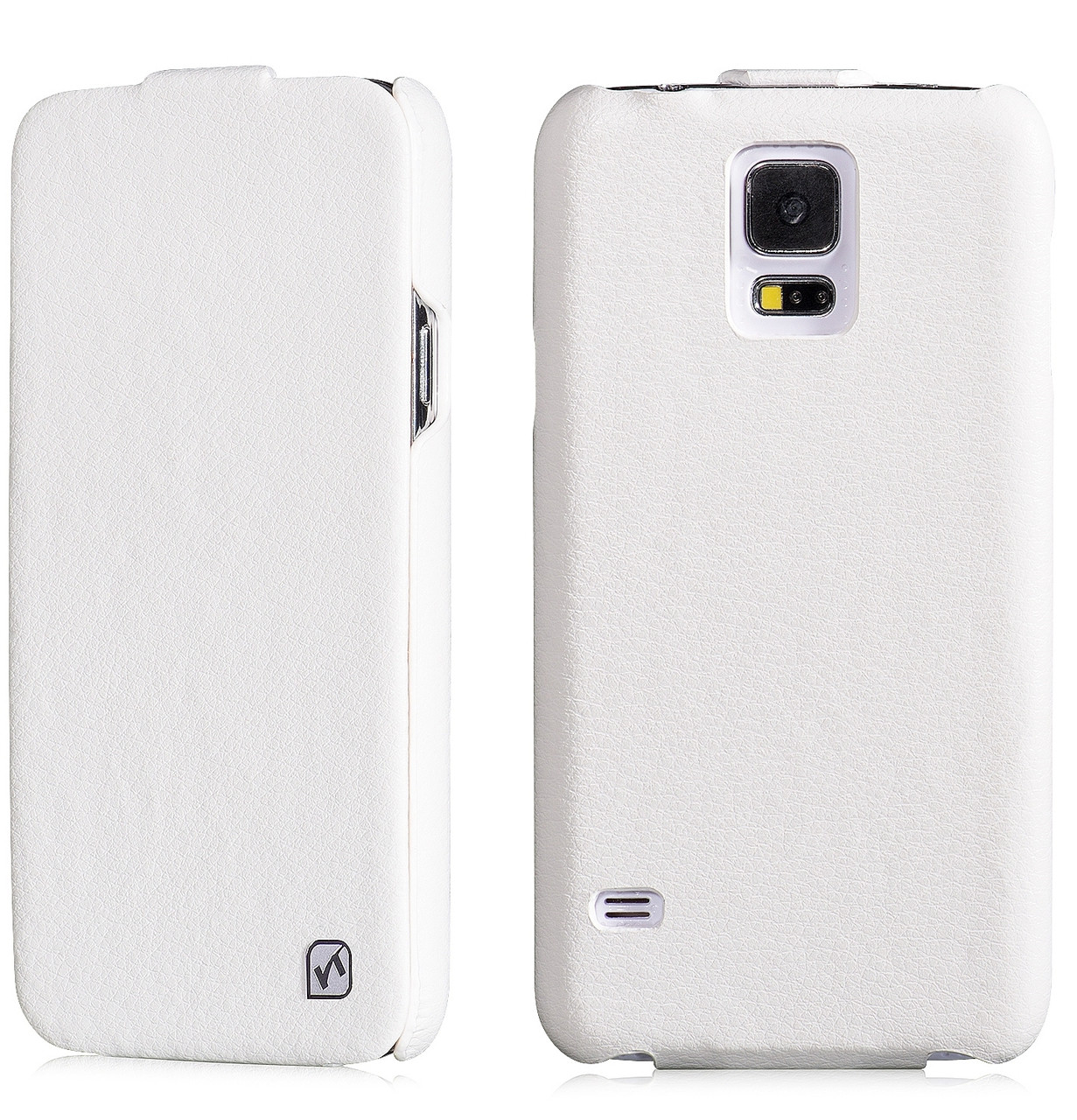 best cheap 6f8de 50817 Hoco Duke Samsung Galaxy S5|S5 NEO Real Leather Flip Case White