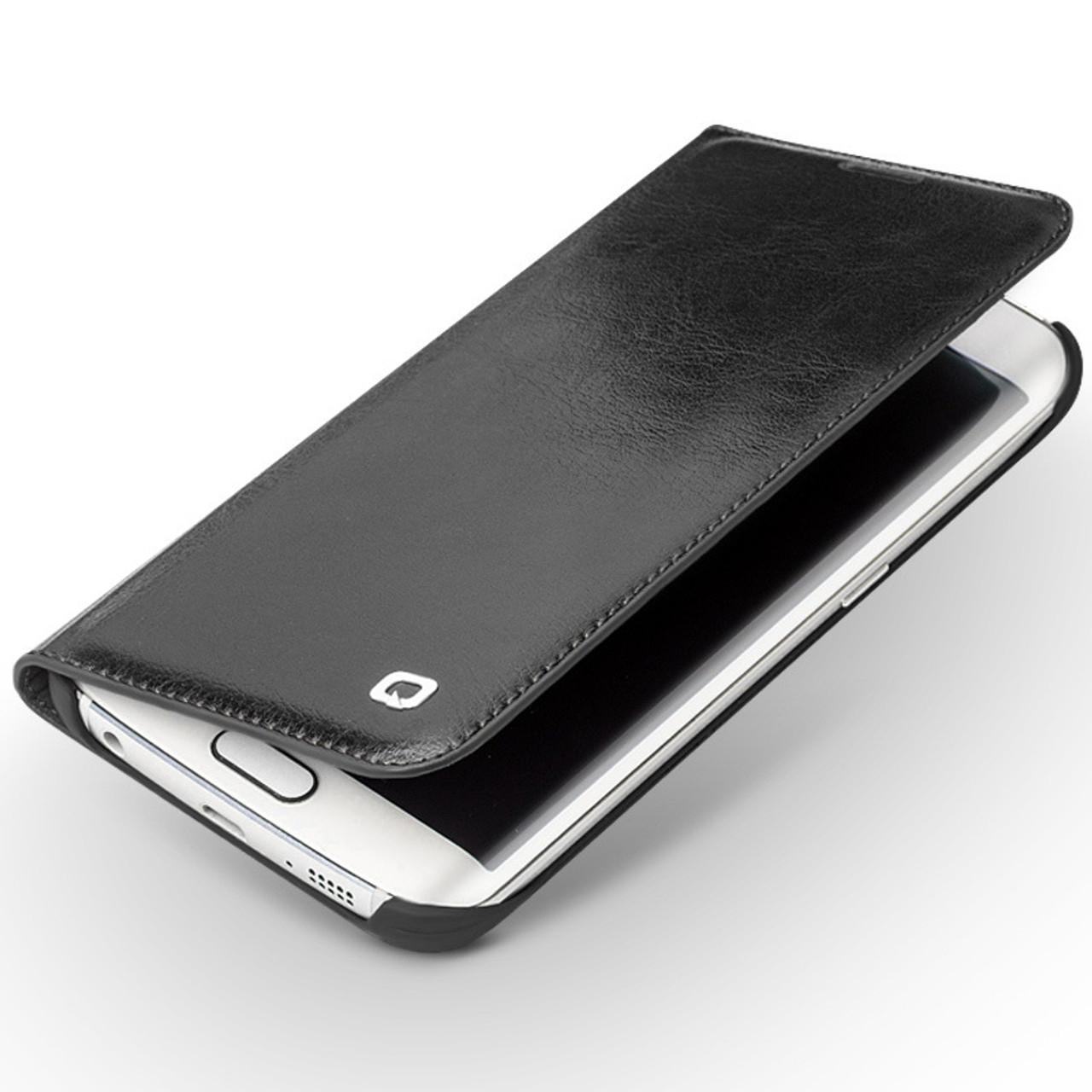 the best attitude 25125 427b3 Qialino Samsung S6 Edge+PLUS Leather Wallet Case Black