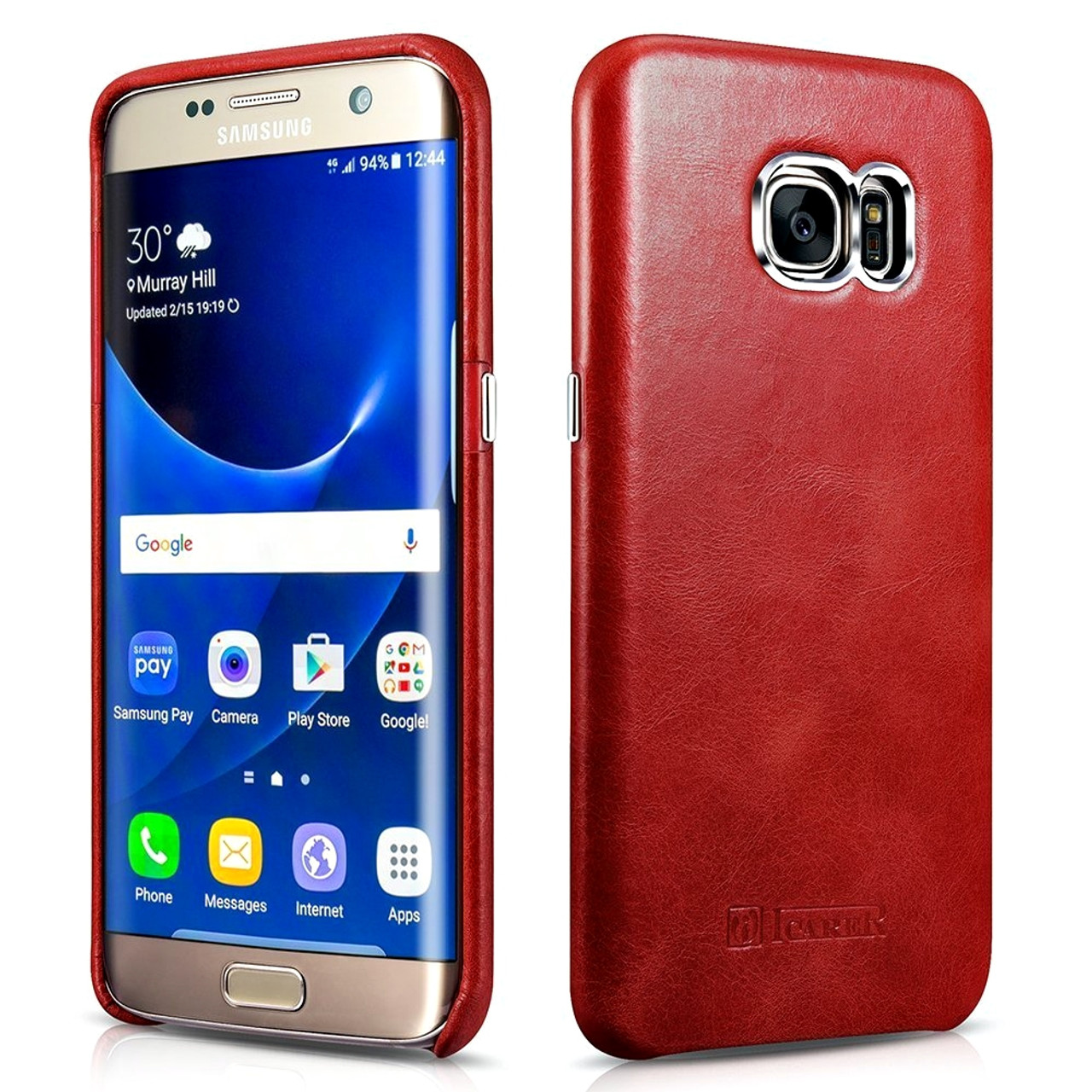 size 40 cfcba 02190 Samsung Galaxy S7 EDGE Vintage Leather Case Red