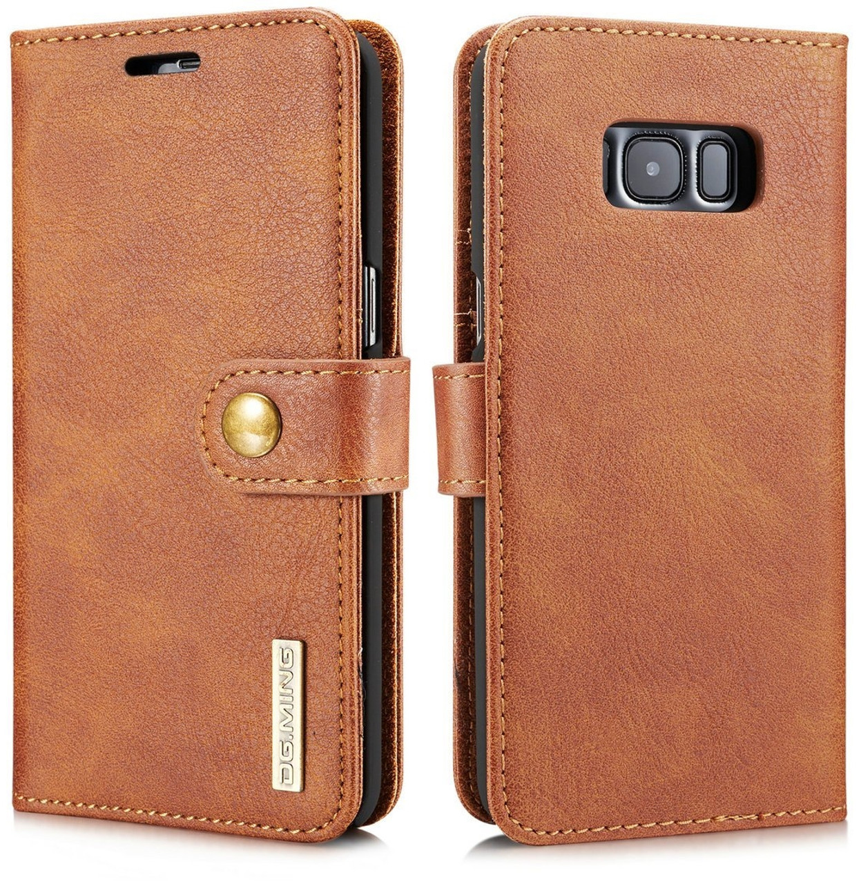 half off 4cb5a ddfab Samsung Galaxy S8+ [Plus] Leather Wallet & Detachable Case Brown