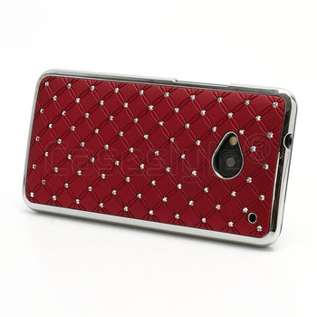 HTC One M7 Bling Chrome Case Red